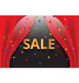 confetti with gold sale banner vector image vector image