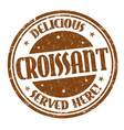 croissant sign or stamp vector image