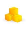 cube of mango icon cartoon style vector image