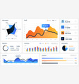 dashboard infographic ui elements for mobile vector image