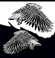 eagle black and white logo design vector image vector image