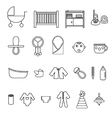 Flat baby icons collection vector image