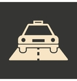 Flat in black and white mobile application taxi vector image vector image