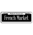 french market vector image vector image