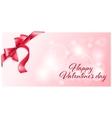 Gift card with bow vector image