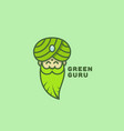 green guru logo vector image