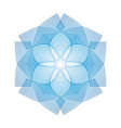 guilloche snowflake pattern new year vector image vector image