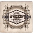 hand drawn whiskey label vector image vector image