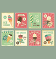 ice cream price cards for fresh desserts vector image vector image