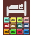 Icon Button Pictogram with Hotel vector image vector image