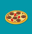 isometric icon italian pizza vector image vector image
