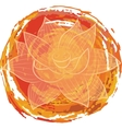 Lotus on orange background vector image vector image