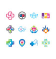 medical and health logo symbol collections vector image vector image