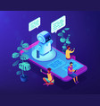 messenger chatbot concept isometric vector image vector image