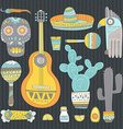 Mexican Elements vector image vector image