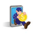 mobile money thief vector image