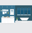 modern bathroom interior design with furniture vector image vector image