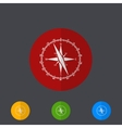 Modern circle icons set on gray