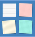 note paper or sticky note set vector image
