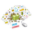 online finance concept web payments internet vector image
