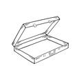 Open empty suitcase vector image