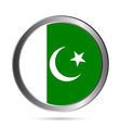 Pakistan flag button vector image vector image