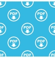 PDF download sign blue pattern vector image vector image