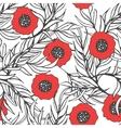 Poppy flower seamless pattern vector image
