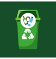 recycling bottles and can icons vector image vector image