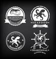 restaurant menu set seafood template design vector image vector image