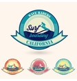 retro California surfing logo for t-shirt or vector image vector image