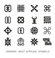 set of akan and adinkra west african symbols vector image