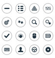 set of simple play icons vector image