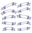 set of ten ribbons and banners for web design vector image vector image