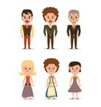 set retro people with hairstyle concept vector image vector image