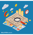 Solution search labyrinth vector image vector image