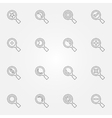 thin line search icons set vector image vector image