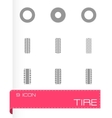 tire icon set vector image vector image