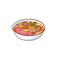 tom yam soup isolated icon vector image vector image