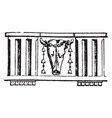 triglyph is an ornament on a doric frieze vector image vector image
