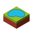 water isometric isolated icon vector image