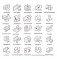 web hosting isometric icons vector image vector image