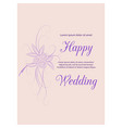 wedding invitation card suite with flowers design vector image vector image