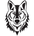 wolf head silhouette vector image vector image
