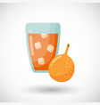 passion fruit juice glass flat icon vector image