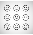 emotions face set vector image