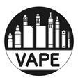 Vape icons vector image