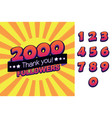 2000 followers thank you for social vector image vector image