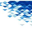 abstract geometric triangle blue mosaic pattern