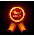 Award label Best choice with ribbons vector image